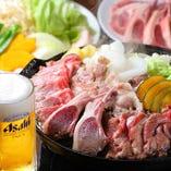 【パーティプラン】特選羊肉プラン 羊肉6種食べ放題<100分食べ飲み放題>