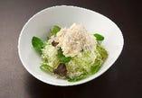 島豆腐とジャコのサラダ