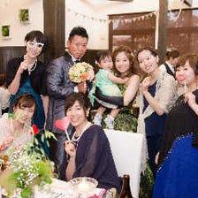 結婚式二次会や女子会、会社宴会にも