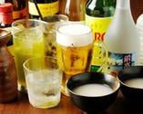 マッコリやビール系ドリンクなどお酒の種類も豊富にラインナップ