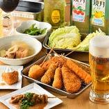 大阪・天神橋筋商店街にある人気店、串カツ「七福神」の味