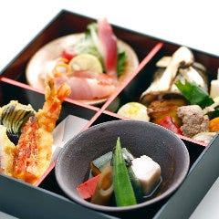 【4つ仕切り 松花堂弁当】テイクアウト 打ち合わせ・ちょっとした会食などにおすすめ