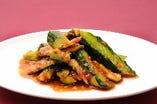 胡瓜(キュウリ)の豆板醤和え