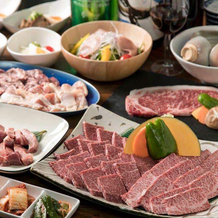 お得な黒牛焼肉コースをご用意!各種宴会・飲み会・夕食にぜひ!
