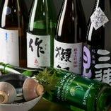 地元・滋賀県の地酒「三連星」をはじめ、人気銘酒をご用意♪