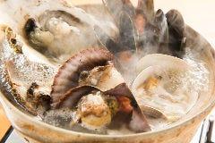 貝の土鍋風呂
