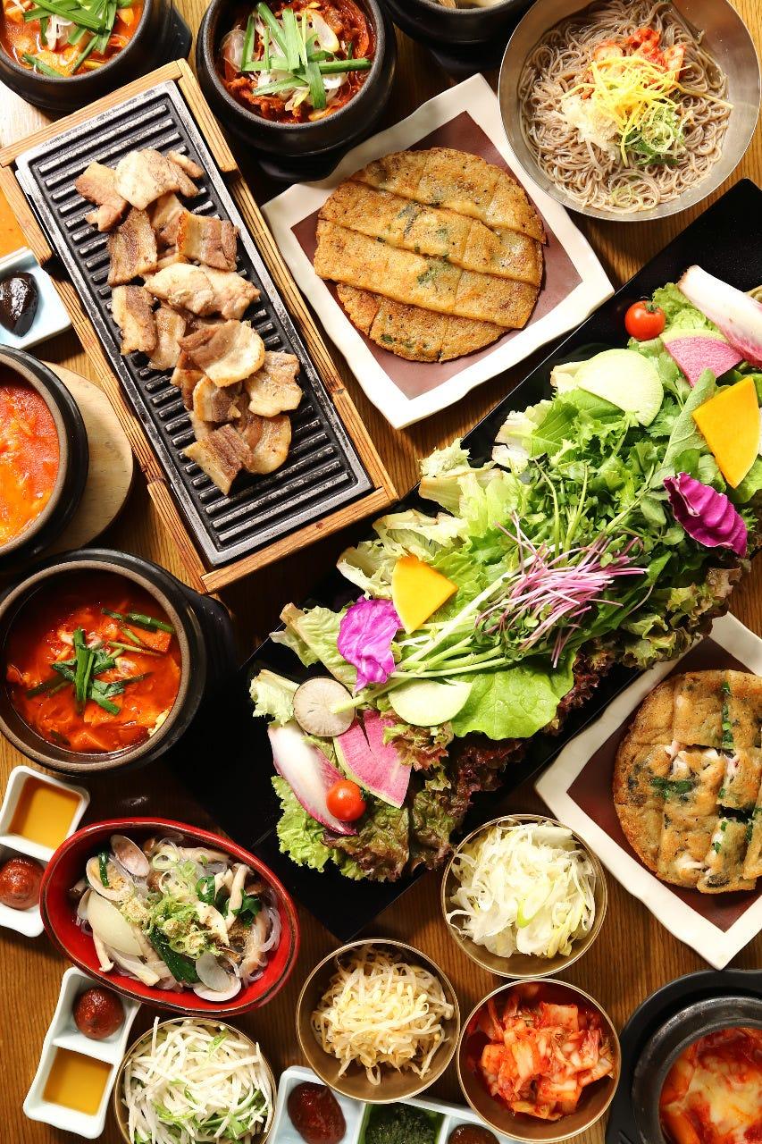 18種お野菜サムギョプサル食べ放題プレミアムプラン2,480円スンドゥブ・チヂミも食べ放題 100分制!