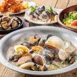 北海道の新鮮な野菜や魚介を使ったメニューも盛りだくさん