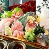 ■ 【旬のお造り盛合わせ】 『尾鷲』岩崎魚店の岩崎肇さんから直送!