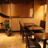 当店は9割が女性のお客様。料理と空間にうっとり。