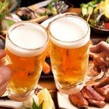 今宵はバカぼんでキンキンに冷えたビールで乾杯!