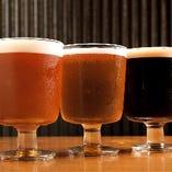 ビール党もお任せあれ!クラフトビールも取り揃えています。