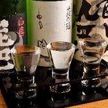 少量でたくさんの種類を楽しめる、飲み比べ三種セット