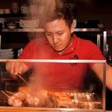 炙りも串揚げも熟練の技が光ります!
