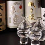静岡の地酒をメインに全国各地から取り寄せた銘酒を豊富にご用意