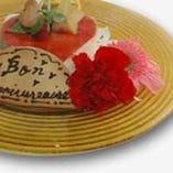記念日(バースデーや結婚記念)にケーキと御写真をプレゼント