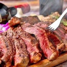 【お肉宴会♪】3時間飲み放題付「肉バル炭火ステーキ含む全21品食べ放題」【4280円→3280円】