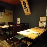 テーブル席A(2~4名様)会社の仲間や友人とデートなどにもおすすめの席です