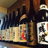 プレミアムな焼酎や地酒の種類が豊富!