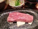 神戸牛テーキランチ (神戸牛の部位はイチボ・ロース・ランプからお任せになります)