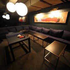 6~15名様までのソファー個室を完備