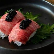肉寿司キャビアのせ