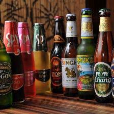 11種のアジアビールや特製逸品料理を