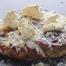 山芋生地100%3種のチーズとろろ焼き