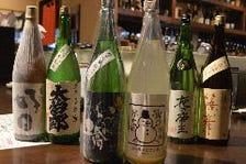 豊富に取り揃えられた日本酒、焼酎