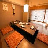 掘りごたつの個室席