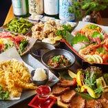 月~木なら3時間飲み放題!仙台直送牛タン2種と天ぷら盛り「牛タン&天ぷらコース」