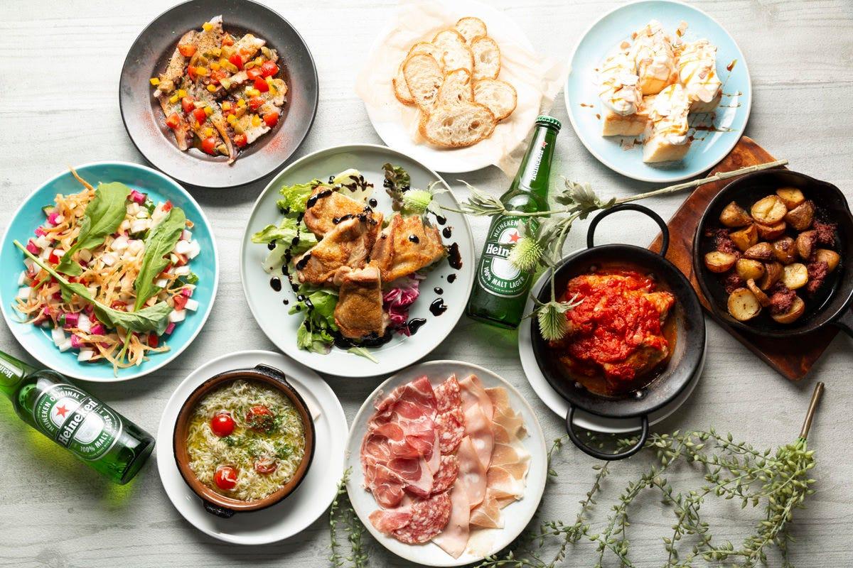 【ミナミ最大級のテラス!ビアガーデンプラン】全9品の大皿料理と飲み放題!4000円(税込)