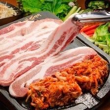 お野菜食べ放題♪サムギョプサル