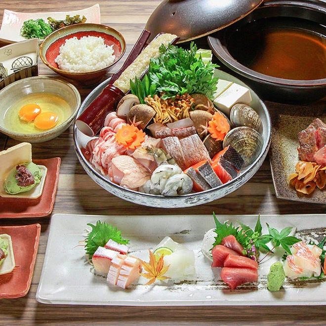 旬の魚介とお野菜をたっぷり楽しむ 『ぞろんぱ鍋コース』