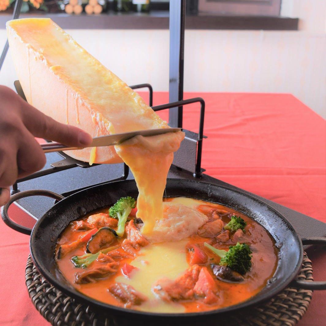 選び抜いたチーズや小麦粉で作る料理