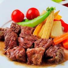 牛さがり肉のステーキ