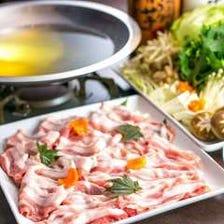 旬香特製出汁で味わう、熟成豚の2種ダレしゃぶしゃぶ