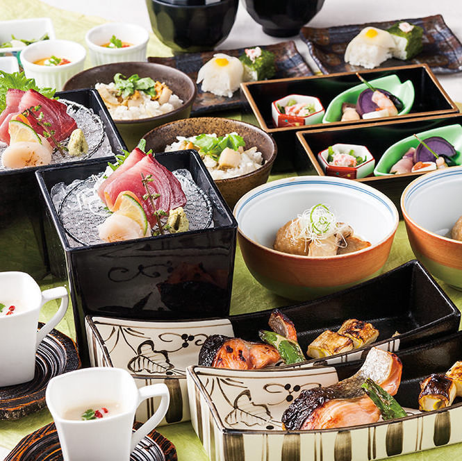 【法事会席】法要後のお食事に~刺身、焼物、天ぷらと季節炊き込みご飯の会食<全8品>4000円
