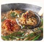 黒胡麻坦々肉鍋