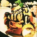 1番人気デザート!!バナナ巻き揚げ!!