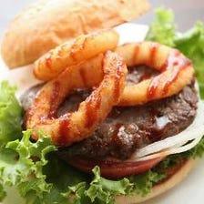 当店のハンバーガーは牛肉100%