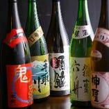 〈地酒多数〉 季節ごとに旬の地酒も多彩に揃えております