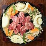 北海道直送の生ラム肉のジンギスカン