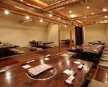 純和風の40名様利用可能な団体個室。