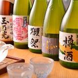 [美酒名酒揃い] 和食と相性の良い日本酒・焼酎も各種ご用意