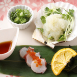店名にもなっている『海藤花』は、タコの卵。希少な珍味です。