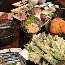 【漁師コース】◆大人気!鰺フライや宇和島風鯛めし等◆全8品のコース♪