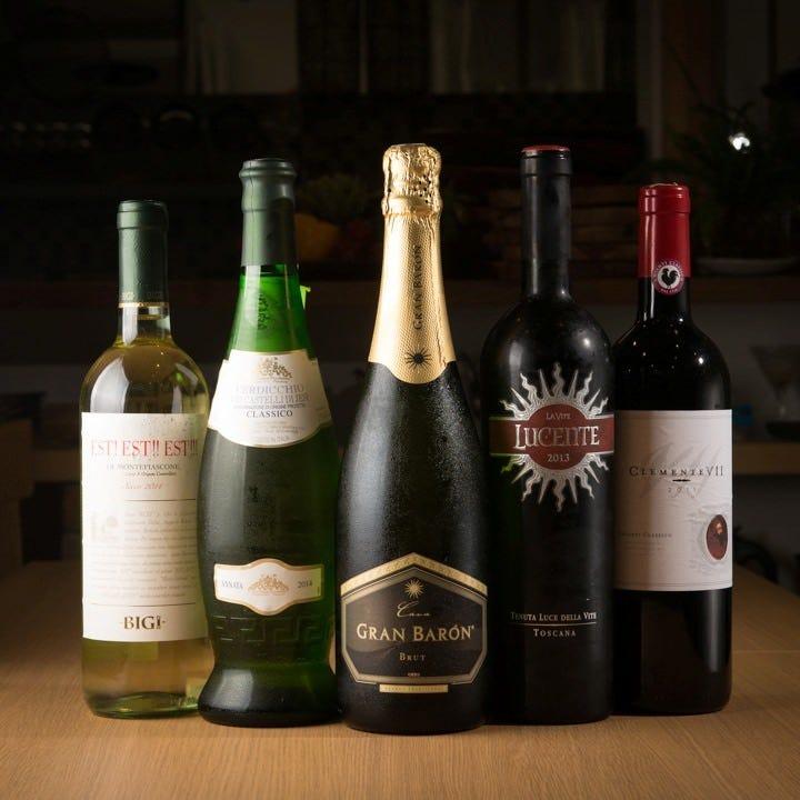 ワインも常時20種ほどございます!