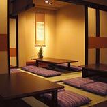 大小個室を完備。お祝い事、法事から宴会まで対応可能です。