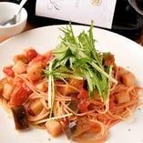 ラタトゥイユ(野菜のトマト煮)のパスタ